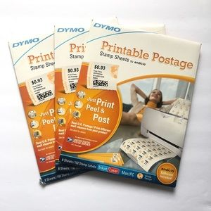 Dymo printable postage stamp sheets. Brand new!